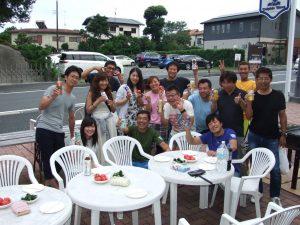 8/27 ドルフィンウェーブ恒例さざえつぼ焼きBBQで大盛り上り~(^-^)/