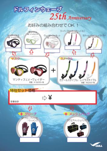 GULL軽器材:ドルフィンウェーブ25周年特別セット価格キャンペーン!