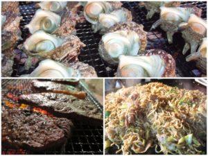 今年の豪華サザエつぼ焼き&ステーキ付海鮮BBQのご案内です♪